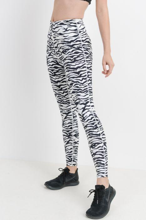 Highwaist Zebra Print Leggings