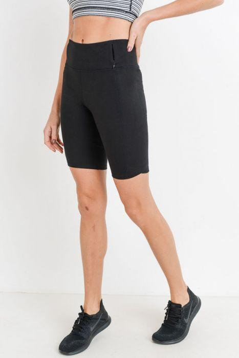 Highwaist Bermuda Leggings with Vertical Zipper