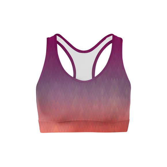 Maroon Diamonds Sports Bra