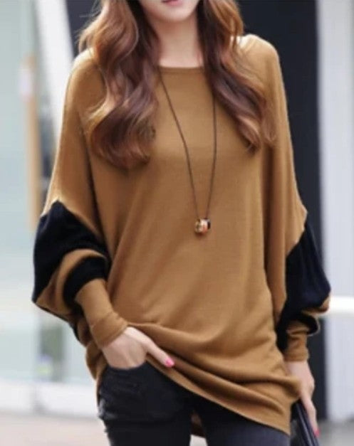 Womens Casual Batwing Top