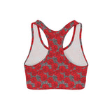 Drawn Roses Sports Bra
