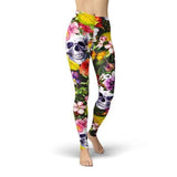 Jean Flower Skulls Leggings