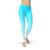 Blue White Ombre Leggings