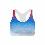 Mixed Triangles Sports Bra