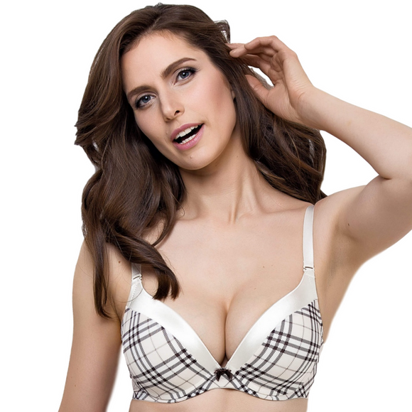 Padded Push Up Plunge Bra Lauma Tuxedo Cindy