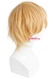 New Men Wigs 32cm/16.6inches Short Blonde Heat Resistant Synthetic
