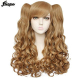 Lolita Long Body Wave High Temperature Fiber Brown Pink Black Blonde