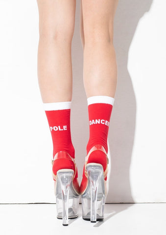 Pole dancer socks - Rouge