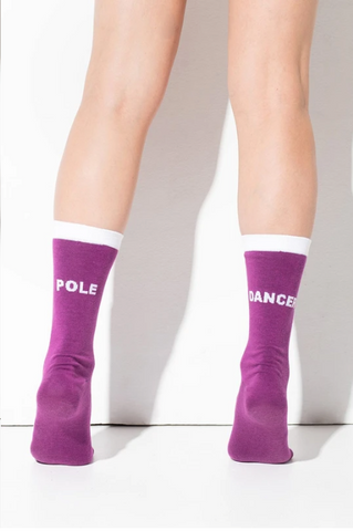 Pole dancer socks - Violet