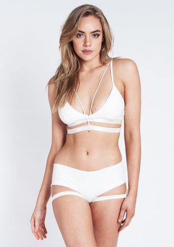 Lure You Garter Short taille basse - Blanc