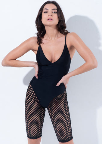 Feline leotard - Black