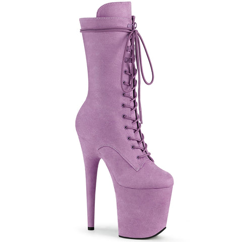 PLEASER USA BOOTS FLAMINGO 1050FS FAUX SUEDE 8 INCH - Lilac