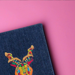 hand embroidered markhor notebook