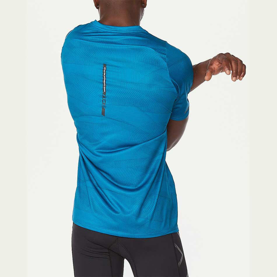 2XU Men's Light Speed Tee Blue SS21