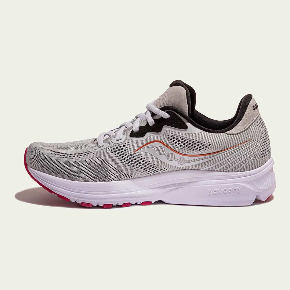 Saucony Ladies Ride 14 Fog/Cherry