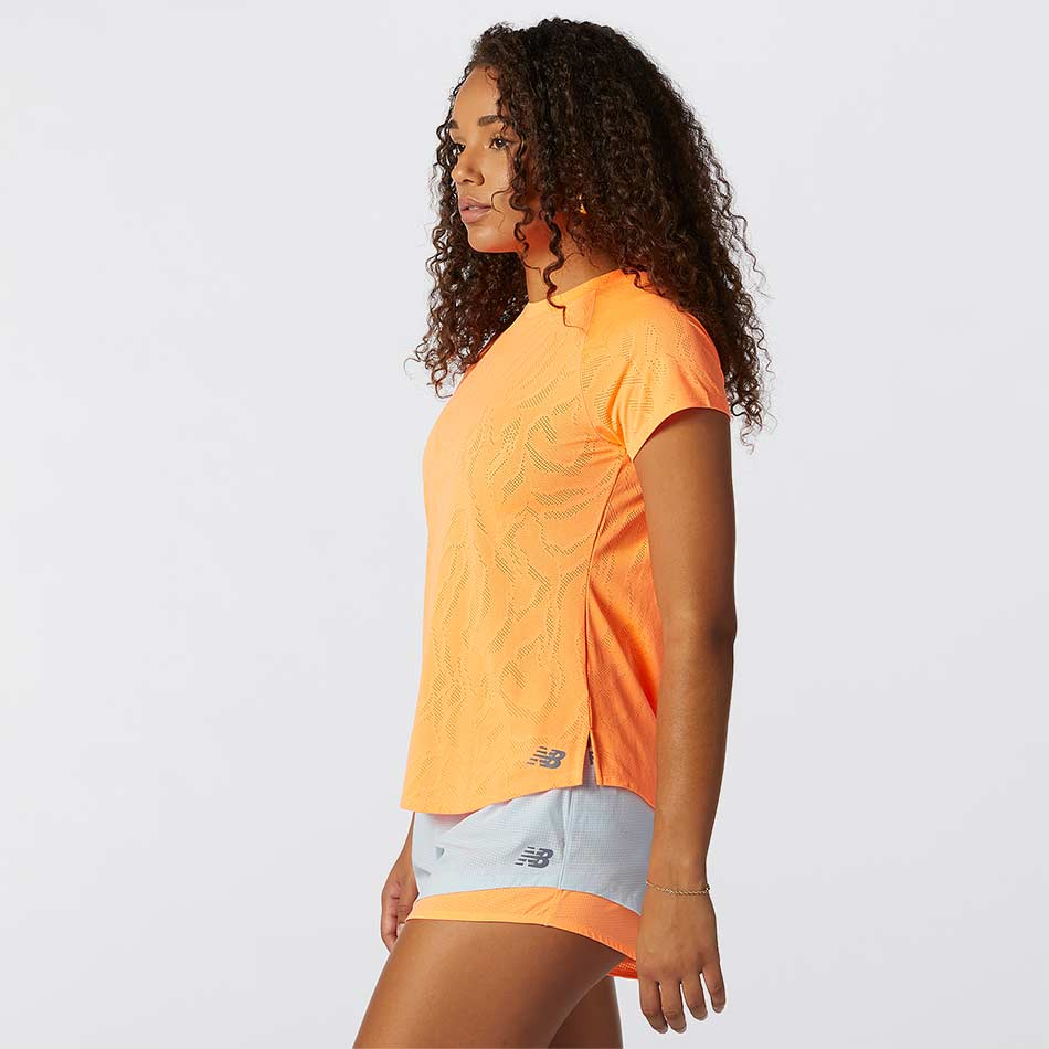 New Balance Women's Q Speed Fuel Jacquard SS Orange SS21
