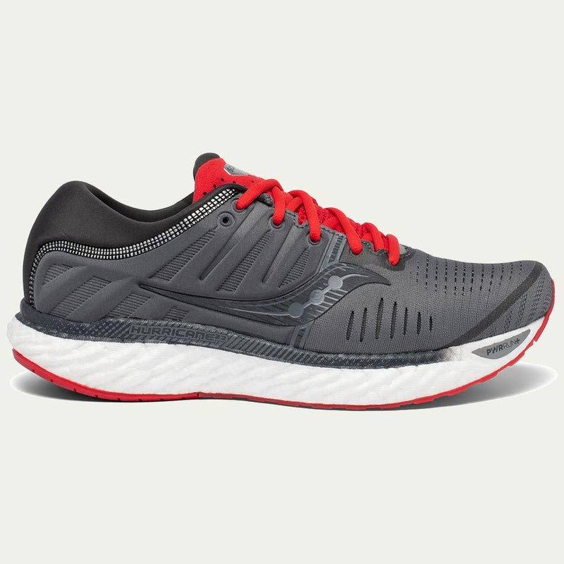 Saucony Mens Hurricane 22 Grey AW20