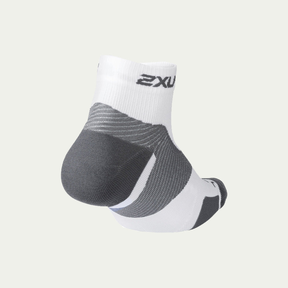 2XU Vectr Light Cush 1/4 Crew White SS21