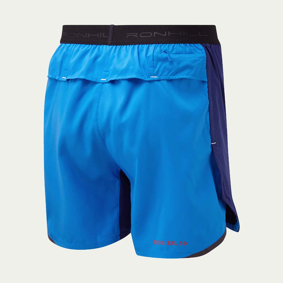 "Ronhill Men's Stride Revive 5"" Short SS20 Blue"