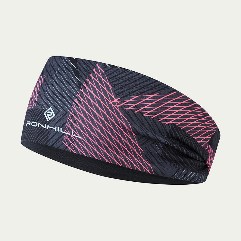 Ronhill Reversible Contour Headband Black/Pink AW20