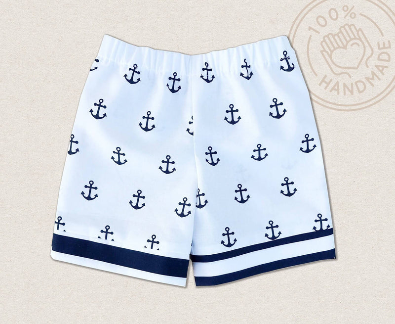 Anchor Navy And White Toddler Shorts - Baby Truth