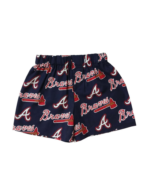 Atlanta Braves Major Baseball League Boys Boxer Shorts - Baby Truth