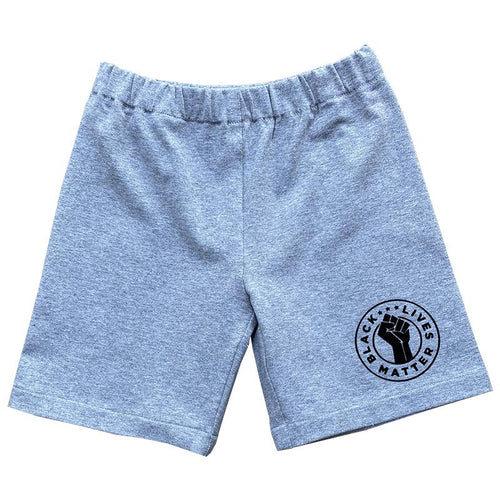 Black Lives Matter Toddler Shorts - Grey - Baby Truth
