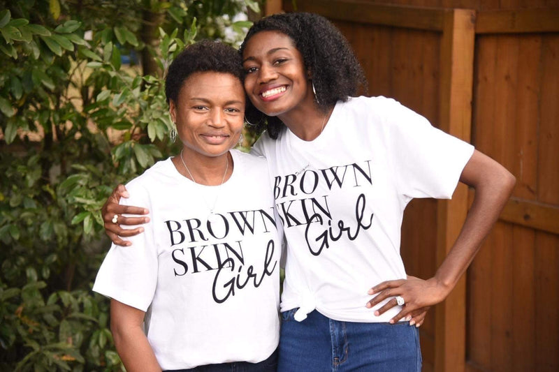 Brown Skin Girl Women Graphic White Tshirt - Baby Truth