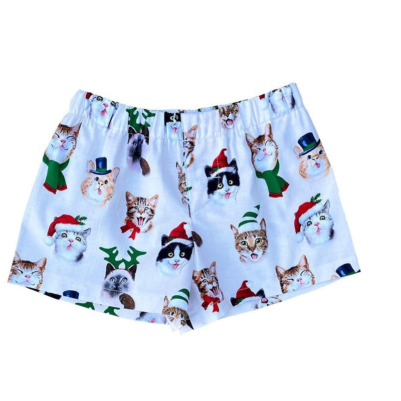 Christmas Cat Faces Toddler Animal Boxers Shorts - Baby Truth