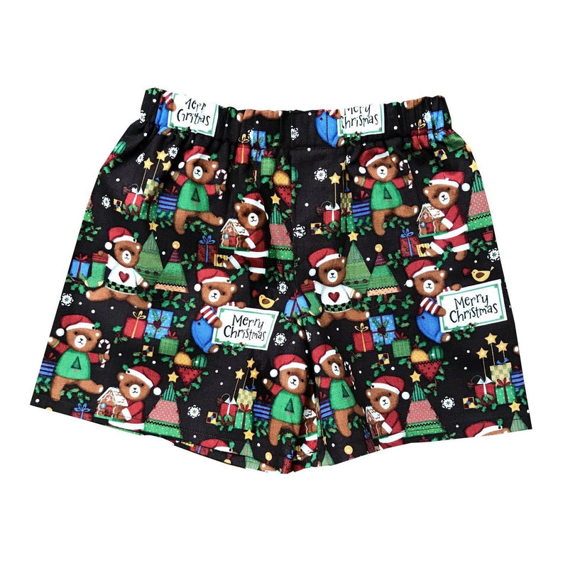 Christmas Teddy Bear Handcrafted Kid Boxer Shorts - Baby Truth