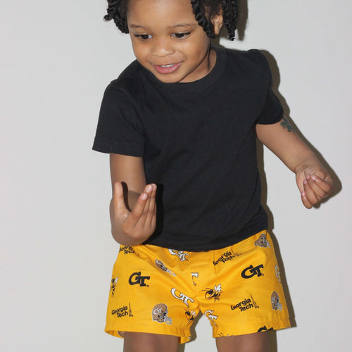 Georgia Tech University Yellow Jacket Toddler Shorts