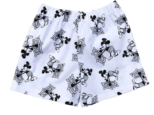 Disney Mickey Black And White Toddler Shorts - Baby Truth