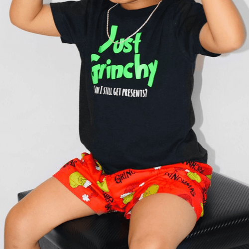 Dr Seuss Christmas Grinch Red Boxer Shorts - Baby Truth