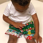 Dr Seuss The Grinch Happy Holiday Christmas Stripes Boxer Shorts - Baby Truth