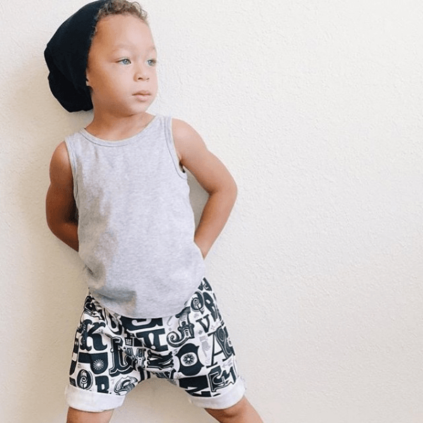 Grey Stretch Knit Toddler Harem Shorts - Baby Truth