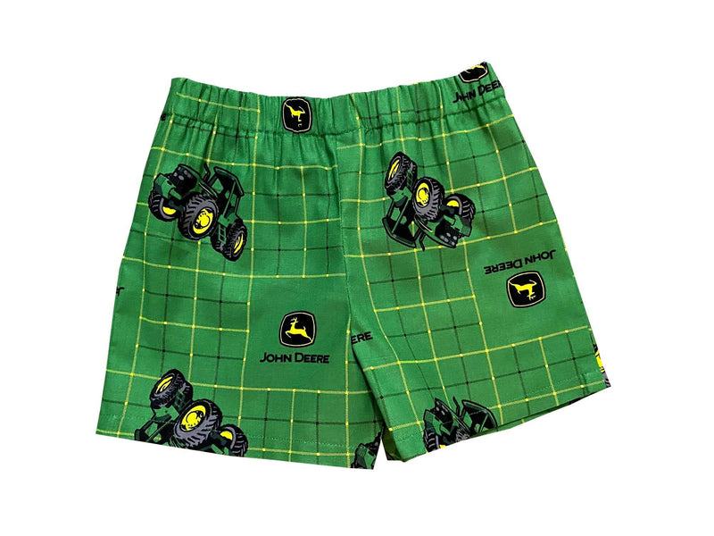 Handmade John Deere Plaid Green Boy Shorts KidsToddler Boxer Shorts - Baby Truth