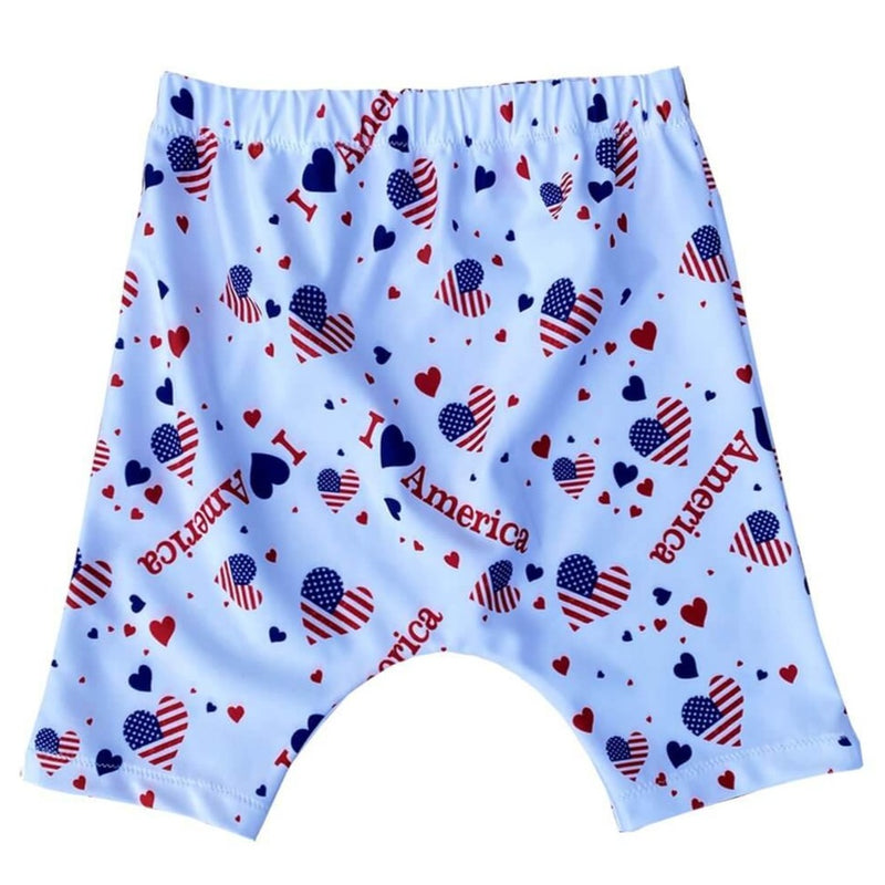 I Love America Toddler Kids Baby Harem Shorts - Baby Truth