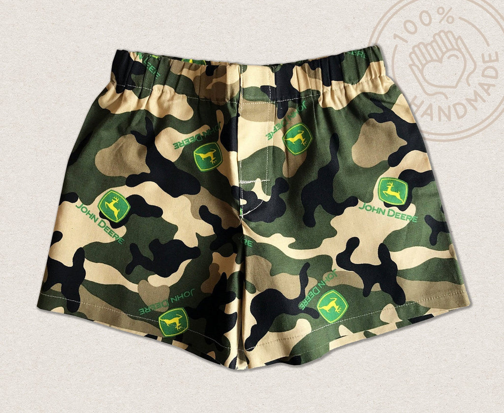 John Deere Camouflage Toddler Shorts | Sew What's Nice - truth-collection