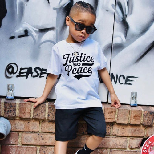 No Justice No Peace Toddler Tshirt - Baby Truth
