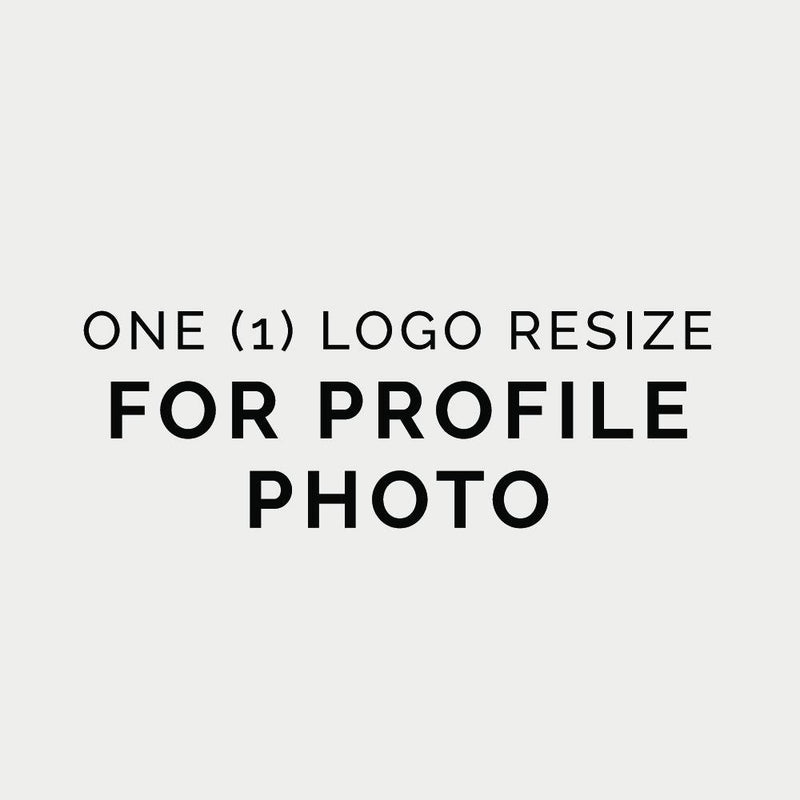 One (1) Logo Resize Social Profile Photo (ADD-ON) - Baby Truth
