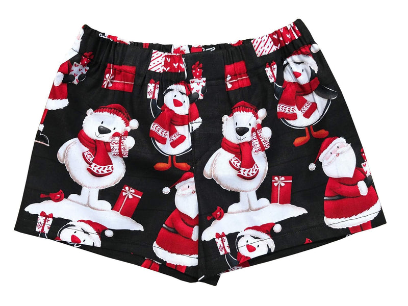 Santa & Polar Friends Holiday Christmas Boxer Shorts