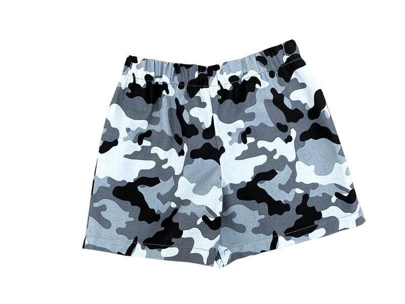 Toddler Boys Grey Camouflage Shorts - Baby Truth