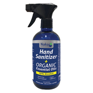 Platinum Hand Sanitizer + Organic Essential Oils – 240ml