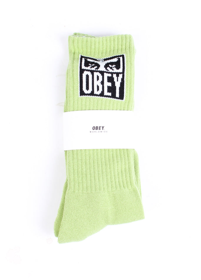 Eyes Icon Socks Key Lime