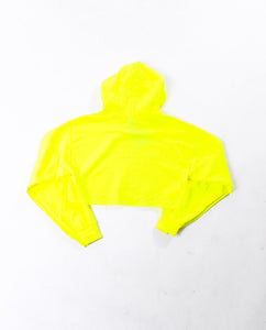 Heavy Hoody Cropped Safety Green
