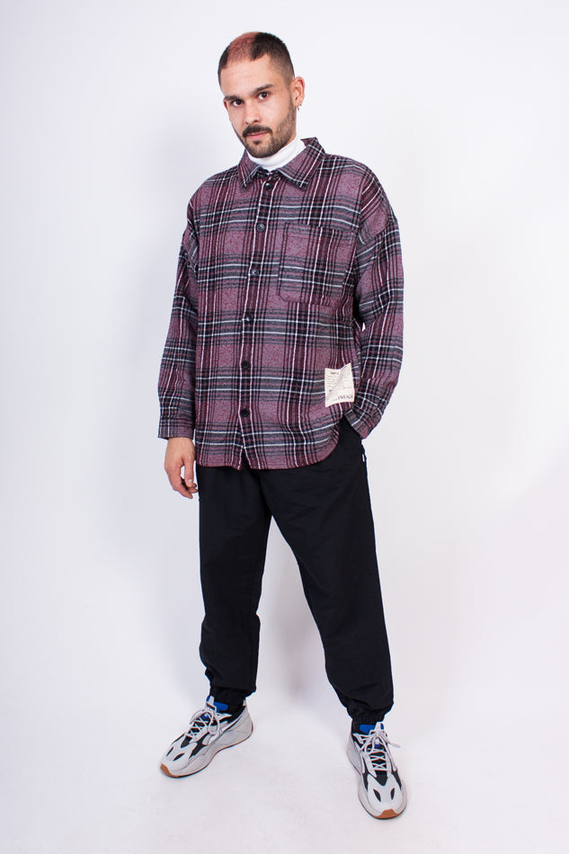 Oversized Check Shirt Grey/Black