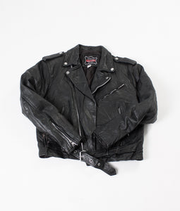 Leather 80s Biker Jacket