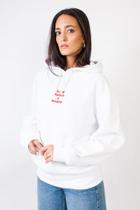 GPeM Hoody Socks Print White/Red