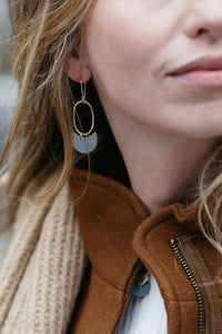 Amelie Oval Dangles