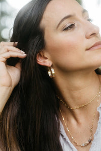 Calla Gold Hammered Hoops